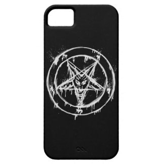 Black Messy Baphomet Phone Case iPhone 5 Covers