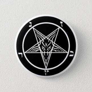 black metal baphomet button-- evil!! button