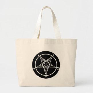 black metal, baphomet, lord of darkness! large tote bag