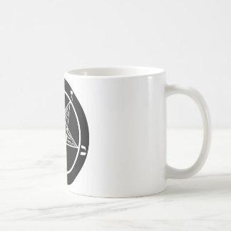 black metal, baphomet, lord of darkness! classic white coffee mug