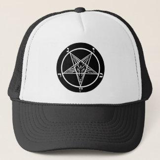 black metal, baphomet, lord of darkness! trucker hat
