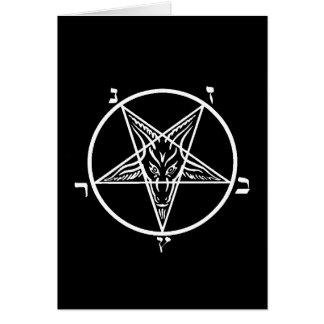 Black metal blank greeting card