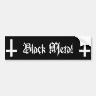 Black Metal Bumper Sticker
