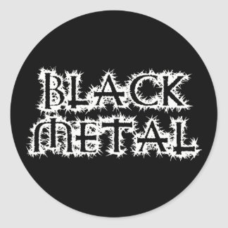 Black Metal Classic Round Sticker