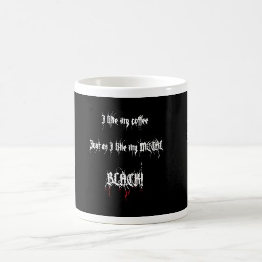 Black Metal Coffee Basic White Mug Zazzle