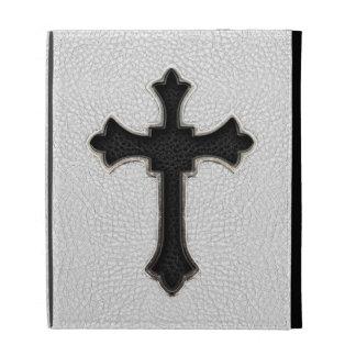 Black Metal Cross iPad Cases