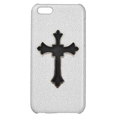 Black Metal Cross iPhone 5C Case