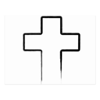 Black Metal Cross Postcard