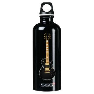 Black Metal Electric Guitar Water Bottle