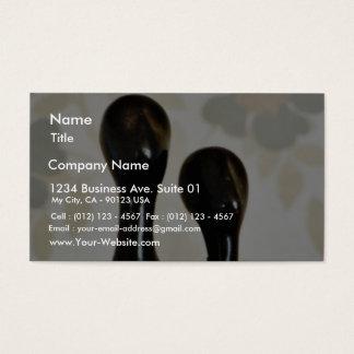 Black Metal Figures Business Card