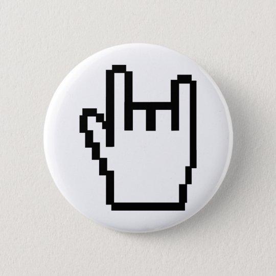 black metal-head icon pinback button