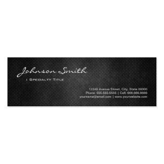 Black Metal Iron Steel - Cool Platinum Look Mini Business Card