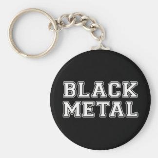 Black Metal Keychain
