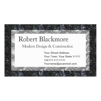 Black Metal Men's Construction Abstract Pattern Business Card