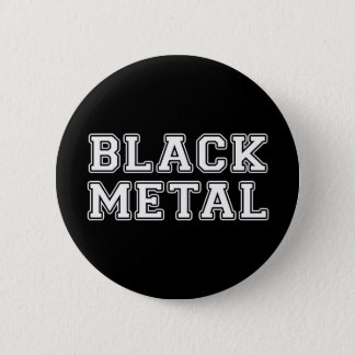 Black Metal Pinback Button