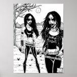 Black Metal Print