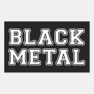 Black Metal Rectangular Sticker