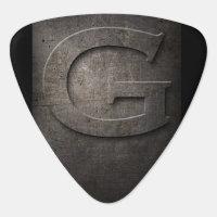 Black Metal Rustic G Monogram Guitar Pick
