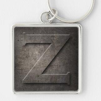 Black Metal Rustic Z Monogram Keychain