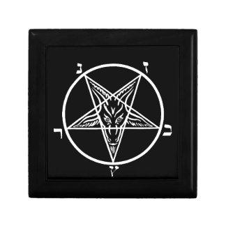 Black metal Satan stash/gift box Keepsake Boxes