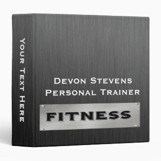 "Black Metal Silver Fitness Binder 1.5"""