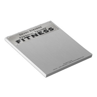 Black Metal Silver Fitness Notepad
