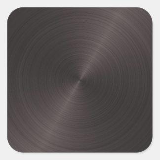 Black Metal Square Sticker