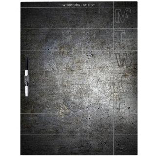 Black Metal WEEKLY Dry Erase Board personalized