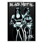 Black Metal Women Card