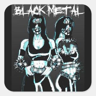 Black Metal Women Square Sticker
