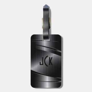 Black Metallic  Brushed Aluminum Look Tag For Luggage
