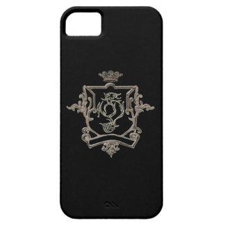 Black Metallic crest  Iphone 5 case