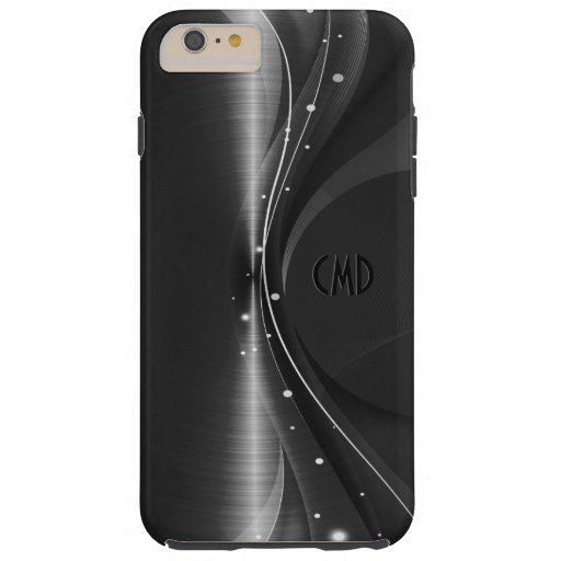 Black Metallic Retro Dynamic Wave Tough iPhone 6 Plus Case