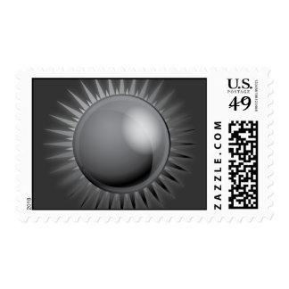 BLACK METALLIC SUN VECTOR FUTURISTIC GRAPHIC GREY POSTAGE STAMPS
