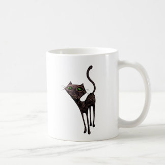 Black Mexican Day of The Dead Cat Classic White Coffee Mug