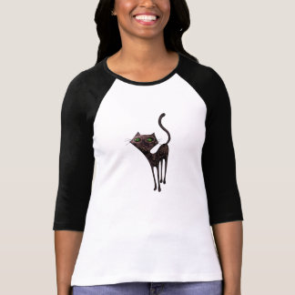 Black Mexican Day of The Dead Cat T-Shirt