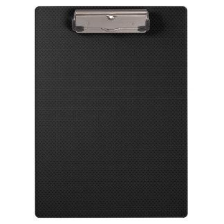 Black Micro Pinhole Fiber Clipboard