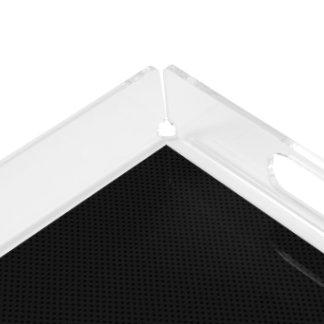 Black Micro Pinhole Fiber Serving Tray