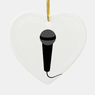 Black Microphone Ceramic Ornament