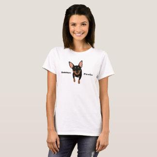 Black Min Pin Miniature Pinscher Women's T-Shirt
