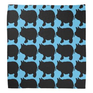 Black Mini Pig Silhouette Bandana