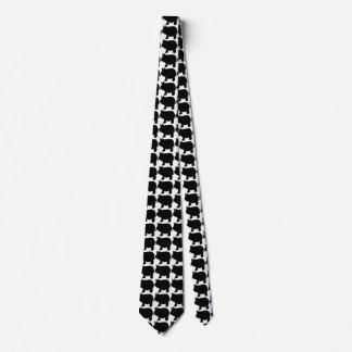 Black Mini Pig Tie