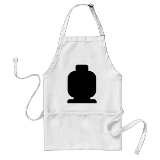 Black Minifig Head by Customize My Minifig Adult Apron
