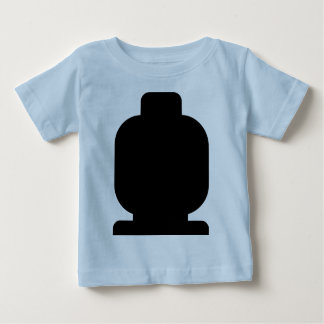 Black Minifig Head by Customize My Minifig Baby T-Shirt