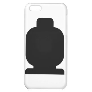 Black Minifig Head by Customize My Minifig Cover For iPhone 5C