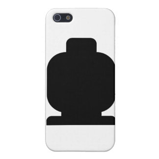 Black Minifig Head by Customize My Minifig Cover For iPhone 5