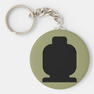 Black Minifig Head by Customize My Minifig Keychain