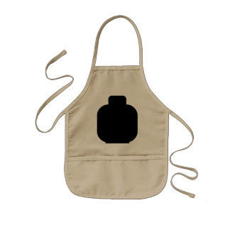 Black Minifig Head by Customize My Minifig Kids' Apron