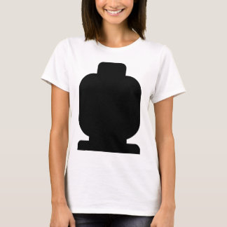Black Minifig Head by Customize My Minifig T-Shirt