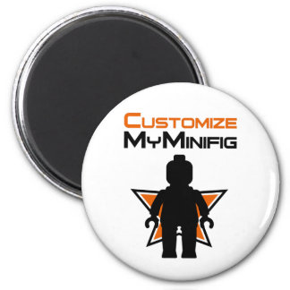 Black Minifig in front Customize My Minifig Logo Magnet